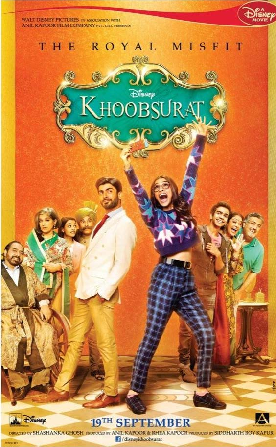 Khoobsurat movie poster Sonam kapoor Fawad Khan Movie