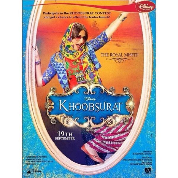 Khoobsurat movie poster Sonam Kapoor and Fawad khan