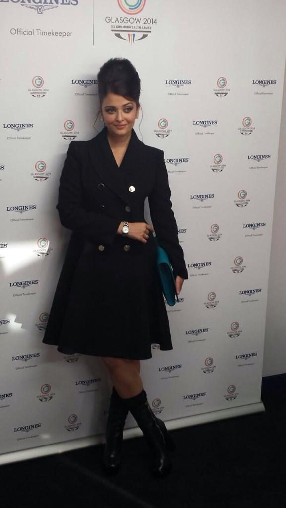 Aishwarya Rai at Glasgow for Common wealth games 2014 longiness