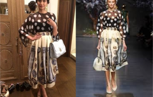 Sonam Kapoor heads to Karan Johar Party in Dolce & Gabbana