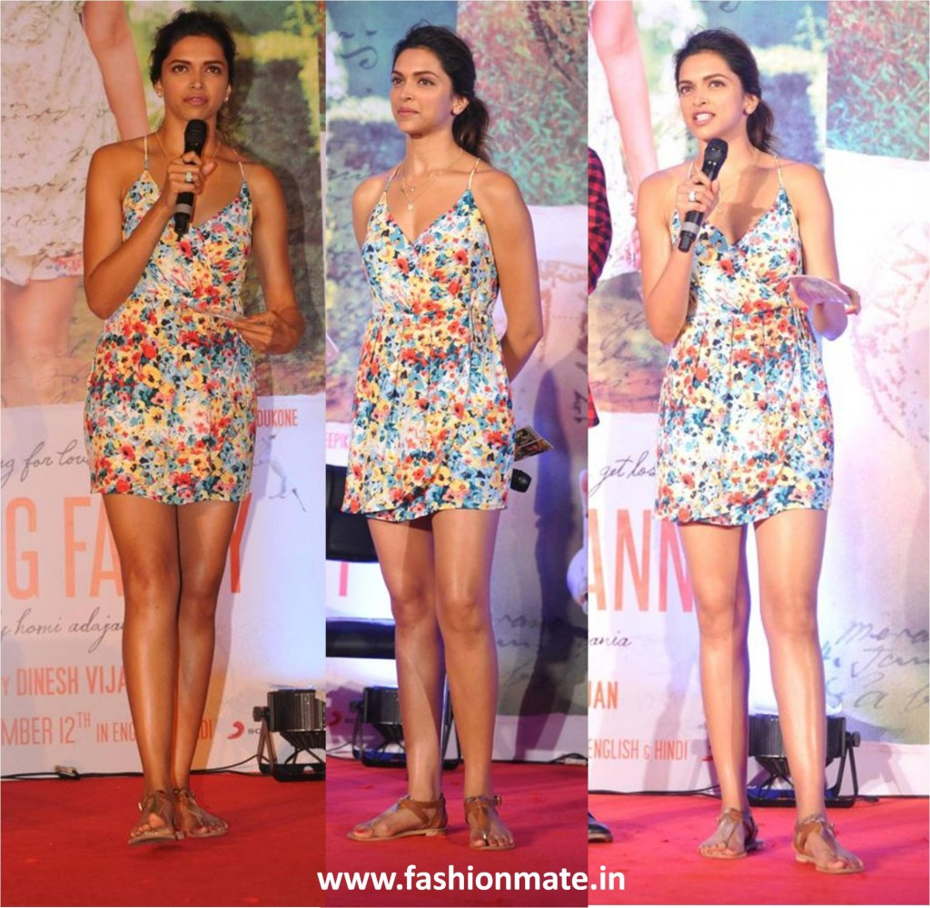 Deepika padukone in forever21 at song launch of finding fanny