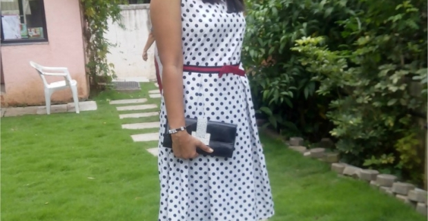 Style File- Polka Dots, Red lips and Pretty Me!! Outfit of the Day