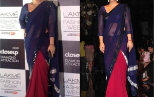 Kajol Stuns all in Manish Malhotra at Lakme Fashion Week 2014