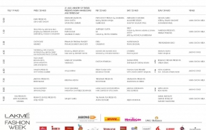 Lakmé Fashion Week Winter Festive 2014 – Schedule