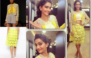 Get this Look: Sonam Kapoor in Pankaj & Nidhi and Asos!