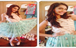 Sonam Kapoor in Zara & Nisha Sainani for Khoobsurat Promotions!