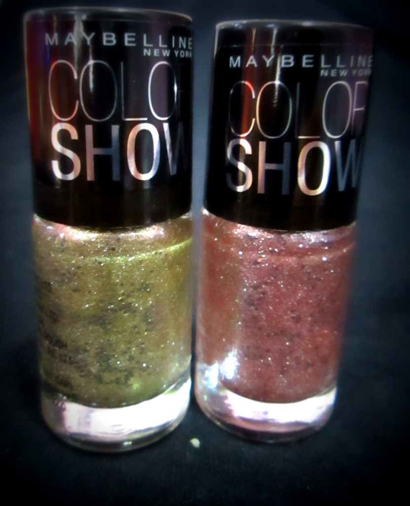 maybeline colourshow glitter mania gold and pink