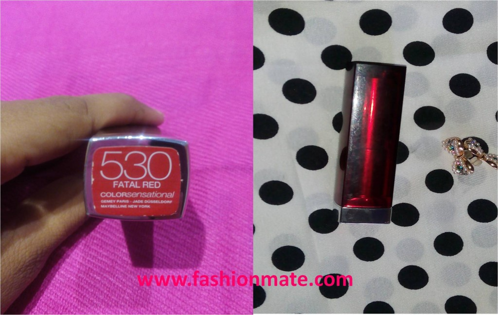 maybeline fatal red lipstick review and swatch