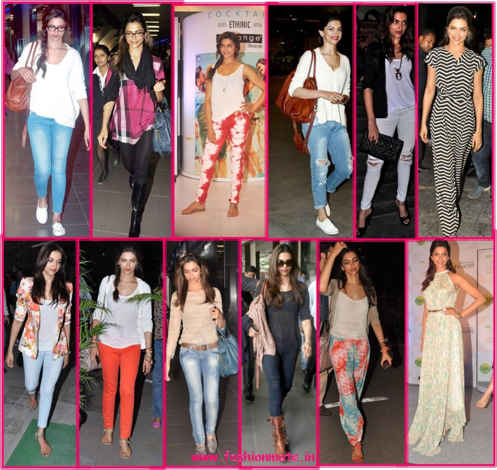 Deepika padukone in NormCore - Bollywood fashion 2014