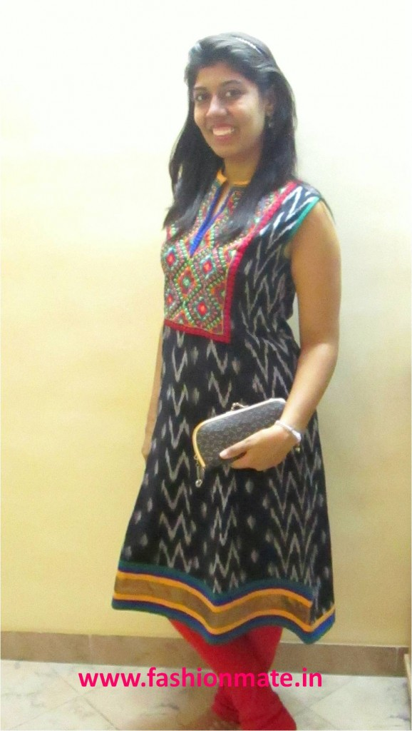Ethnic Kurti hand-work quirky style outfit of the day