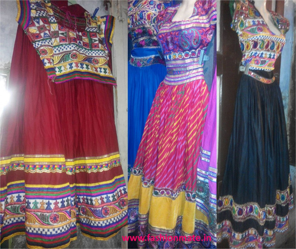Ghagra choli navratri outfit patterns fashion trends 2014