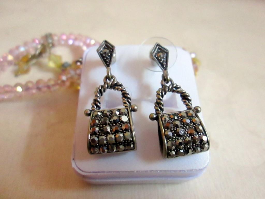potli earrings oxidized hangings