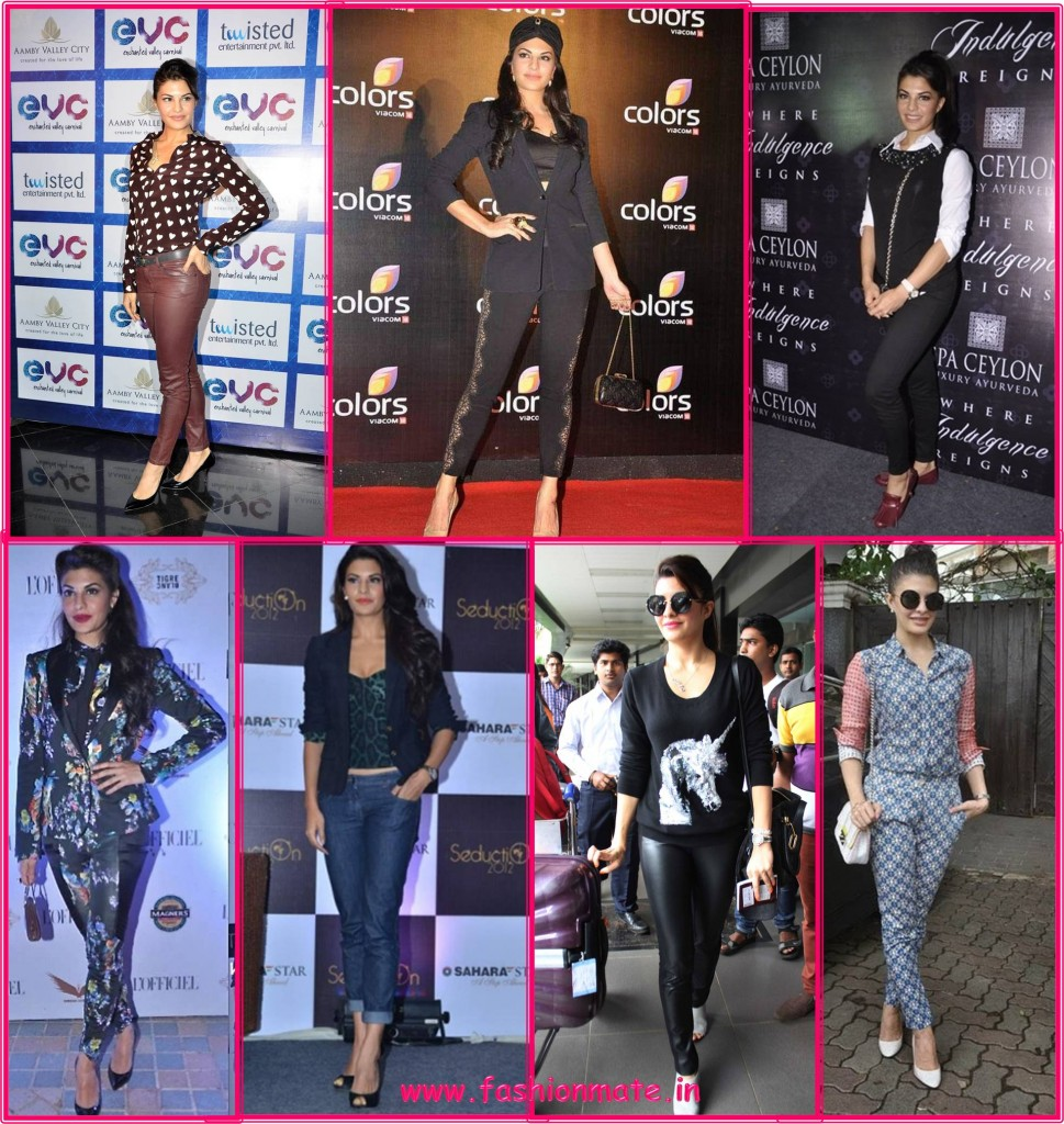 Jacqueline Fernandez in Pansuit style Bollywood fashion 2014