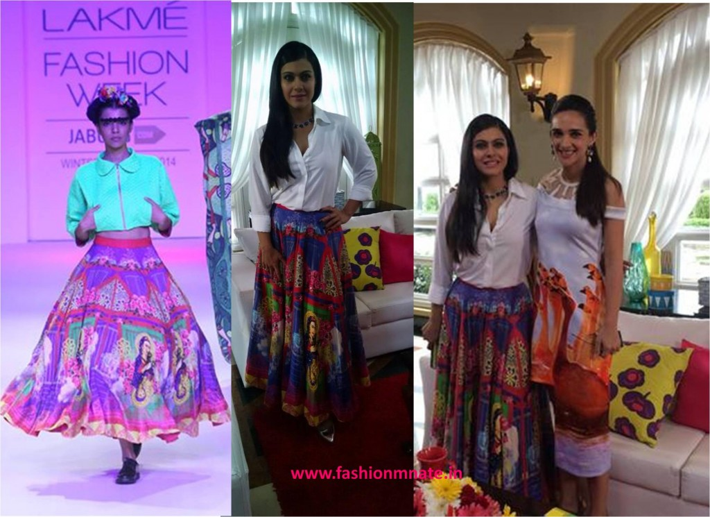 Kajol in Kristy De Cunha lfw collection
