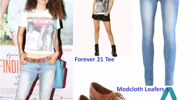 Look Book: Kangana Ranaut in Forever21 & Birkin for finding fanny premiere