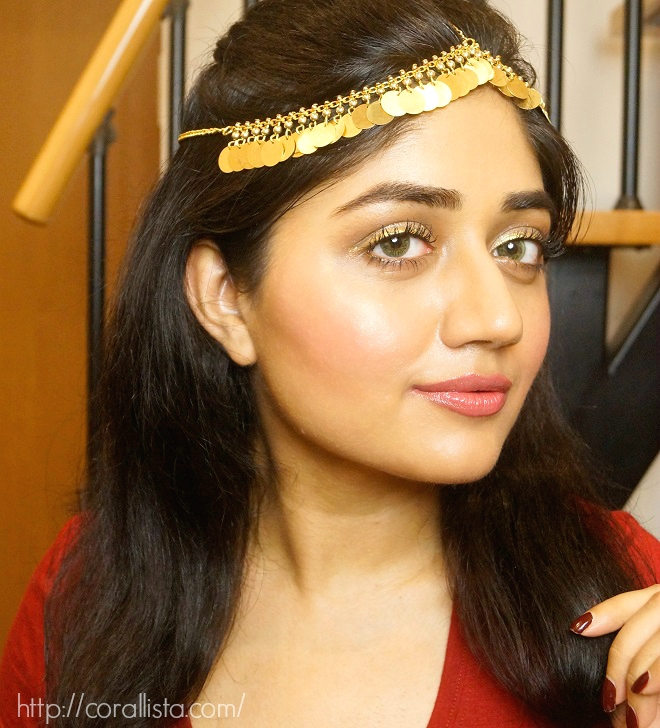 Metallic coloured eye makeup for Navratri fashion 2014