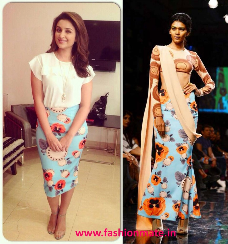 Parineeti Chopra in Masaba Gupta for Daawat-E-Ishq