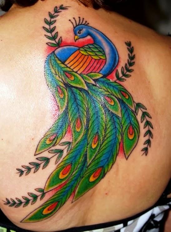 Peacock-tatoo navratri fashion 2014