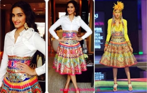Sonam Kapoor in Manish Arora for Khoobsurat Promotions!