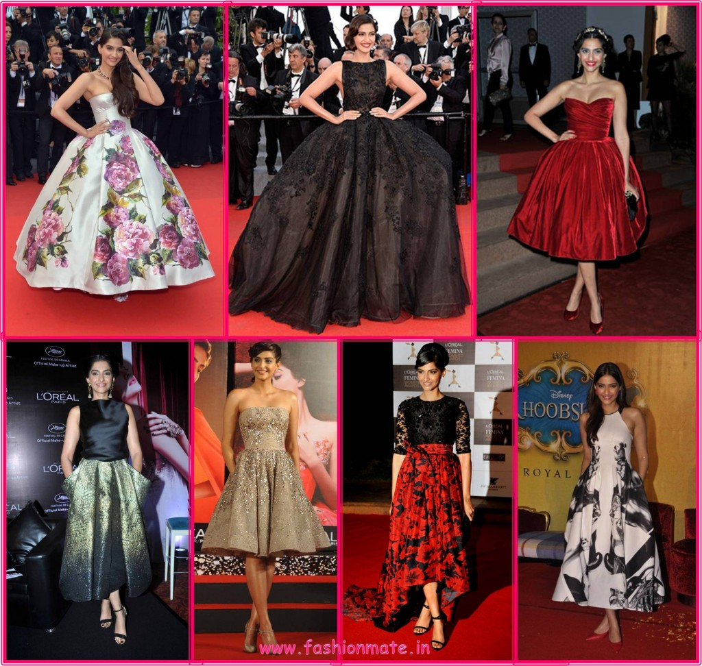 Sonam Kapoor princess style in D&G Elie Saab Bollywood fashion