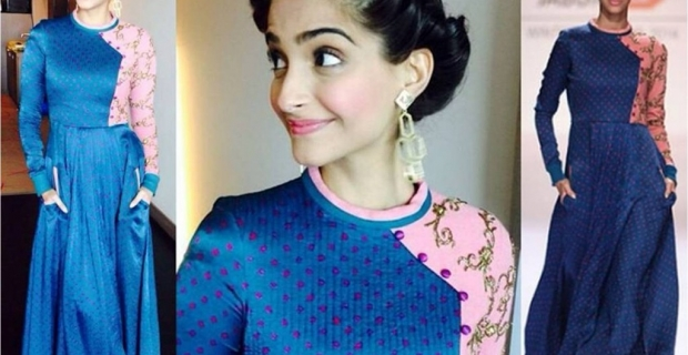 Sonam Kapoor in GAGA & Mrinalini Chandra for Khoobsurat Promotions