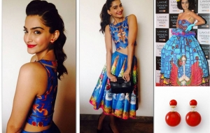Sonam Kapoor dons Kristy De Cunha & Dior for Khoobsurat Promotions