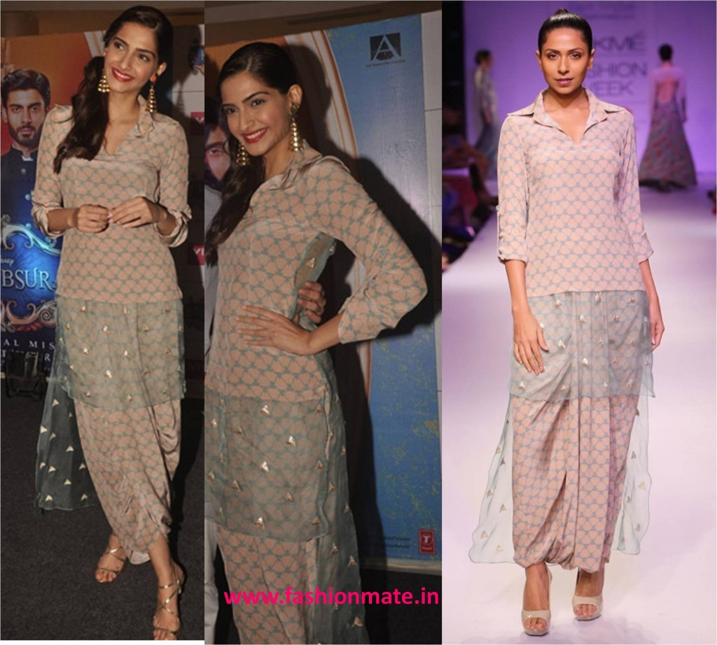 Sonam kapoor in payal singhal lfw collection khoobsurat