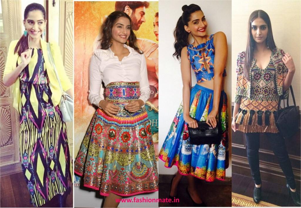 Sonam kapoor tribal aztec print fashion trends 2014