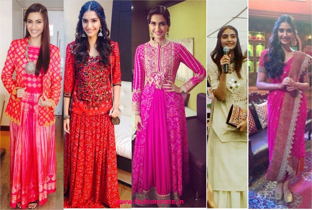 sonam kapoor in ethnic fashion trends 2014