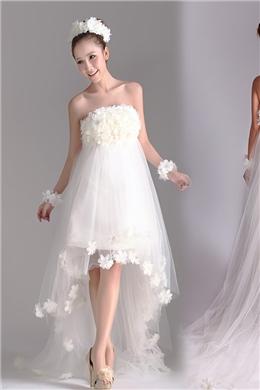 budget beach wedding gown by dressV