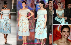 Hot or Not? Deepika Padukone in Pankaj and Nidhi for HNY Song Launch