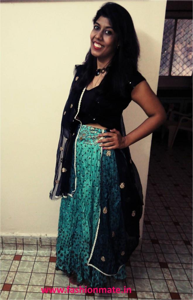 Indian Fashion Blog- Garba outfit of the day chaniya choli fashion trends 2014