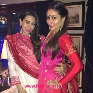 Kareena Kapoor Khan in Sabyasachi for Diwali Celebrations