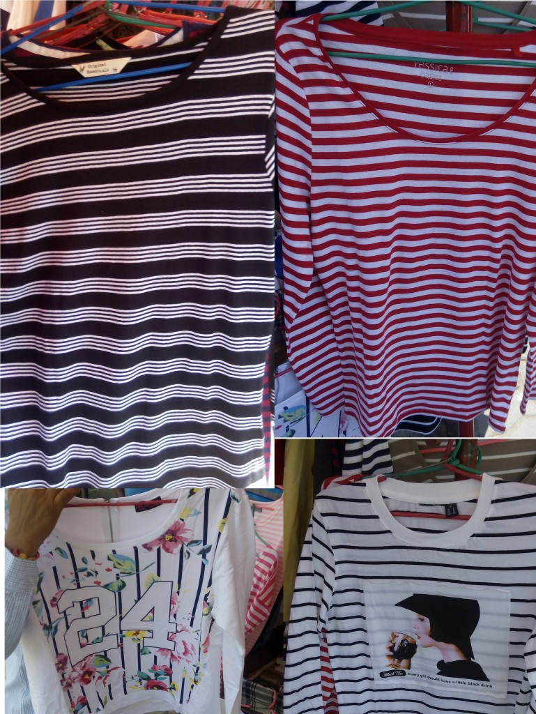 Nautical stripes tshirt at street fashion 2014