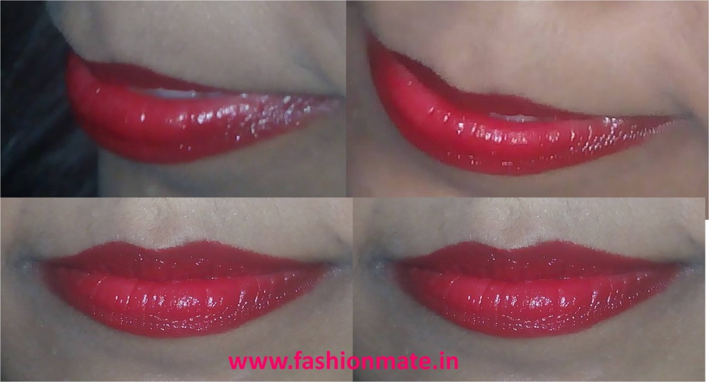 Red lipstick maybeline for diwali festival makeup- festive makeup tutorial 2014