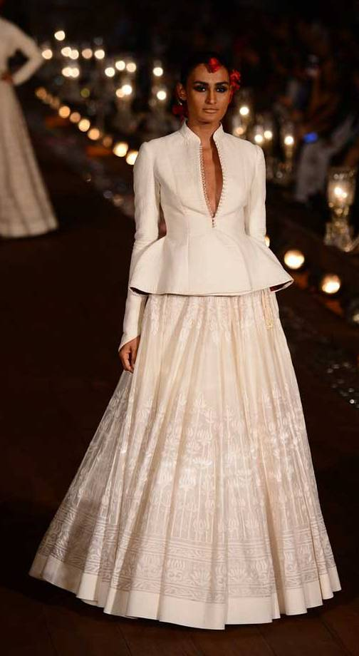 Rohit bal white bridal outfit wifw 2015 collection