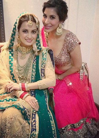 Sophie Choudry at Dia Mirza wedding in Manish Malhotra