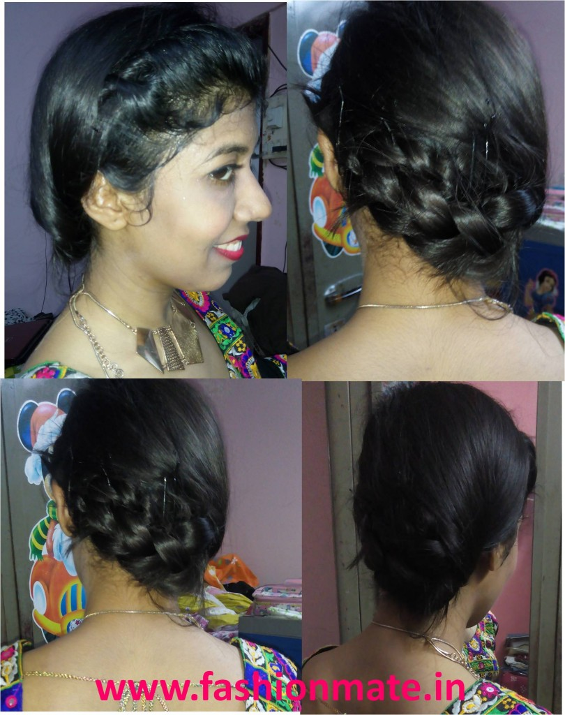 hairstyle for navratri garba braided bun 201 | Fashion Mate | Fashion Mate
