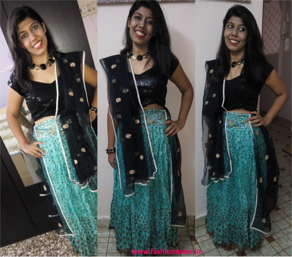 outfit post navratri chaniya choli trends 2014