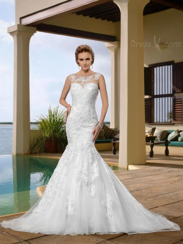 sexy-mermaid-wedding-dresses-from-dressv