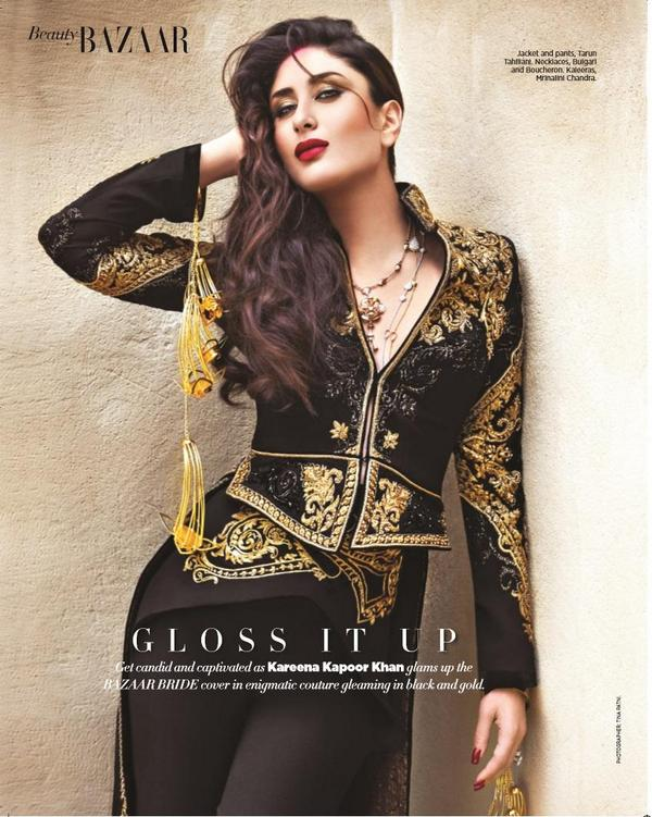 Kareena Kapoor in Tarun Tahiliani for Bazaar Bride
