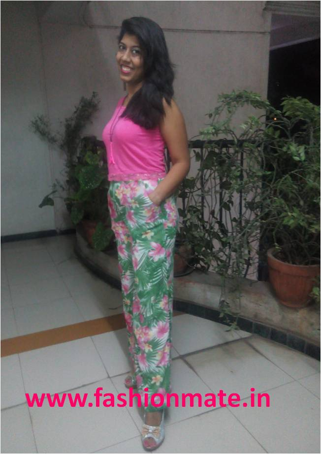 How to style your Crop top palazzo pants fashion trends 2015