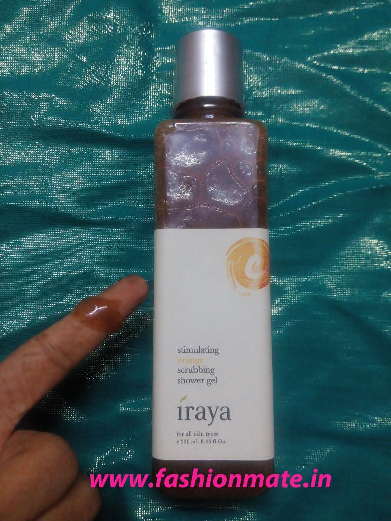 Iraya orange scrubbing shower gel review by fashionmate