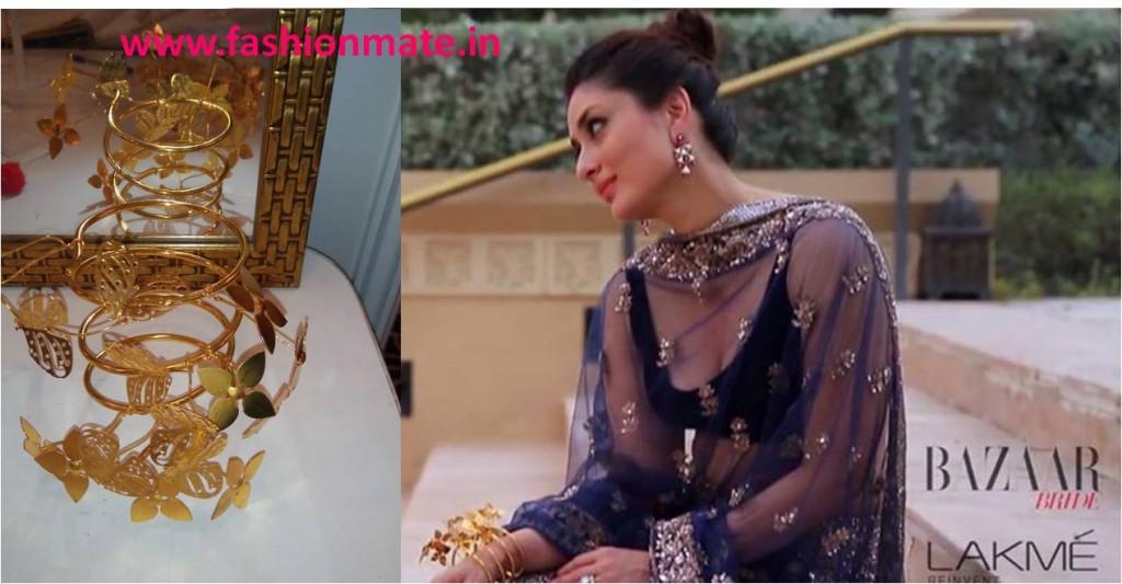 Kareena Kapoor in Mrinalini chandra shakuntala bracelet designer jewelery 2014