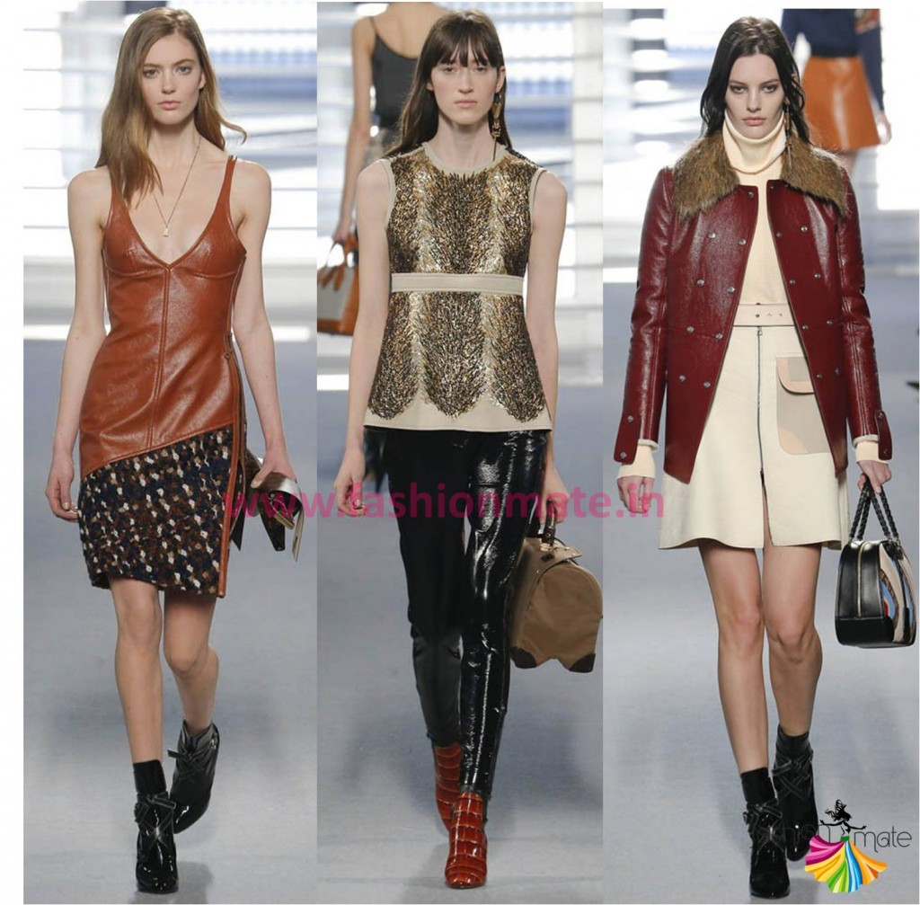 Runway fashion autumn fall 2014 leather dress top trends