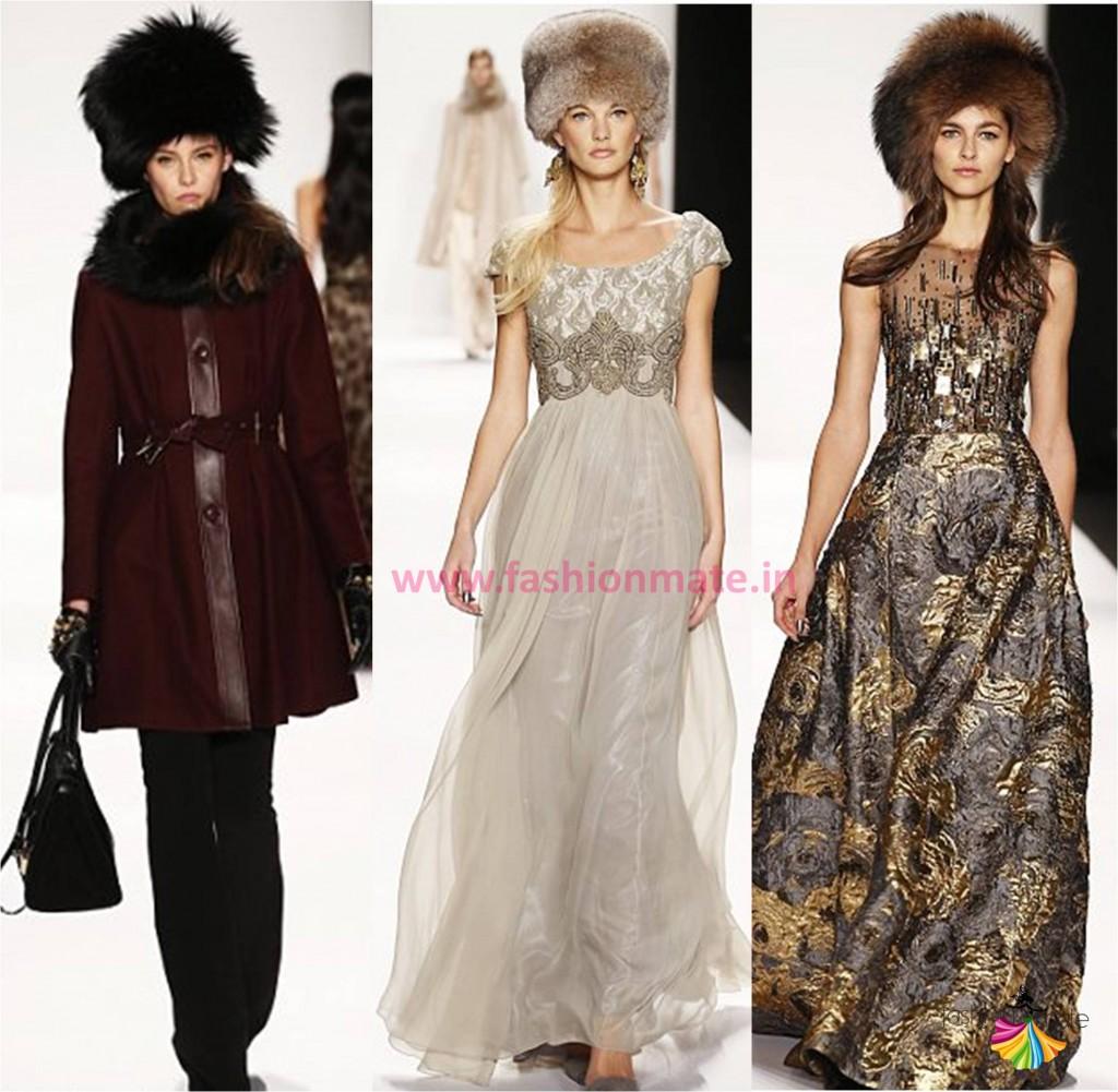 Winter fall fashion trends 2014 fur caps runway nyfw