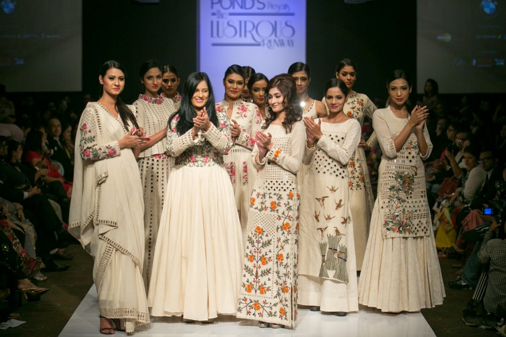 Designer Purvi Doshi with Shishir Hassan walked for The Lustrous Runway in Bangladesh