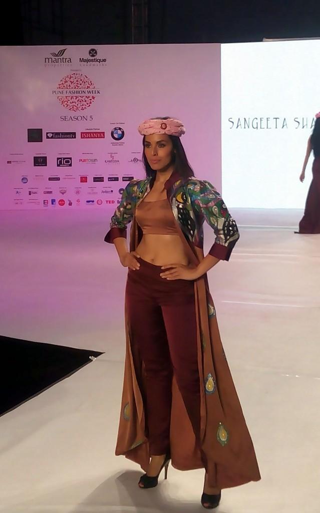 Fashion Designer Sangeeta Sharma for Pune Fashion Week 2014