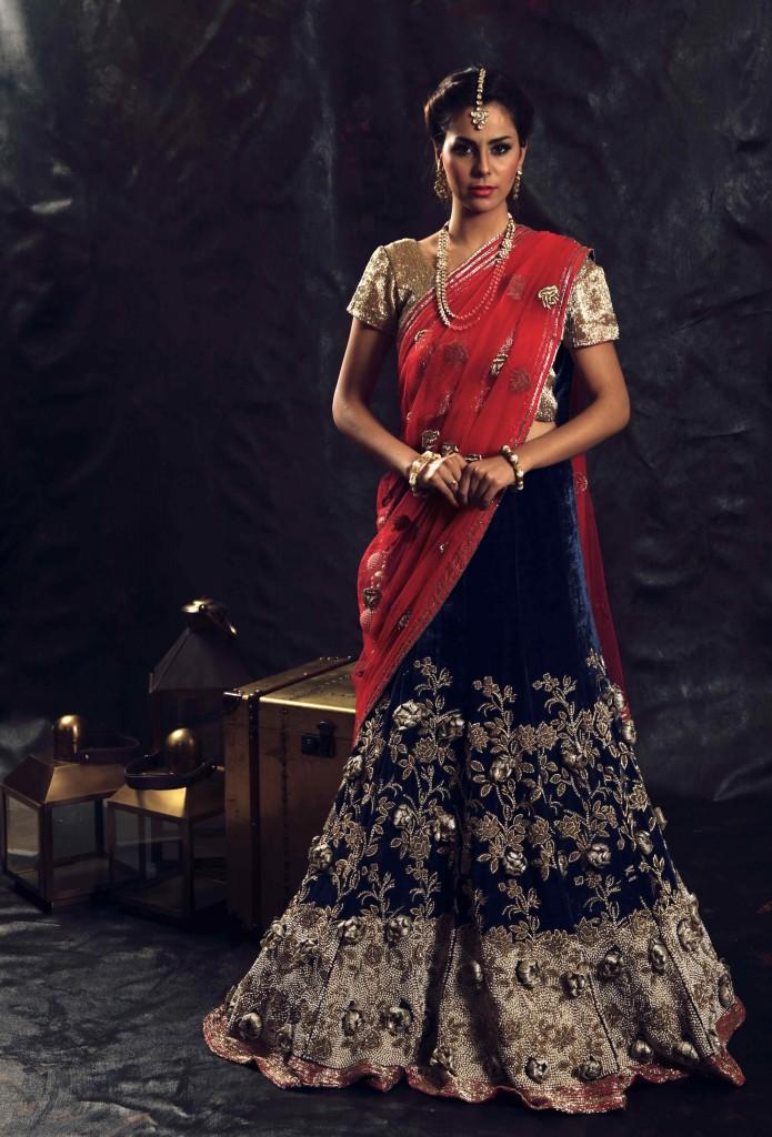 Bollywood actress Lisa Ray for Ulka Bafna at Pune Fashion Week 2014