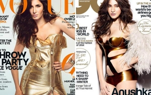 Fall Trend 2014 -Metallic is In – Katrina Kaif in Moschino for Vogue